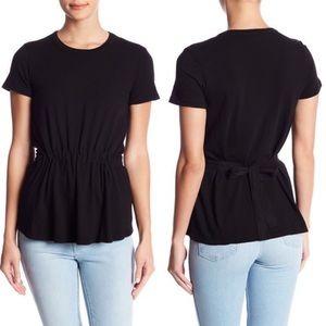 Stateside Short Sleeve Drawstring Ruched Tee Shirt